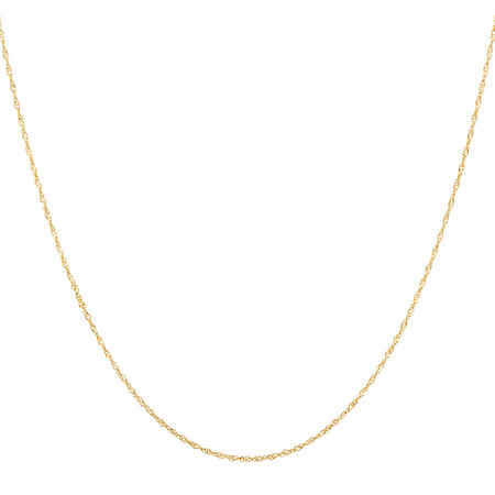 "40cm (16"") Singapore Chain in 14kt Yellow Gold"