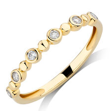 Bubble Ring with 1/8 Carat TW of Diamonds in 10kt Yellow Gold