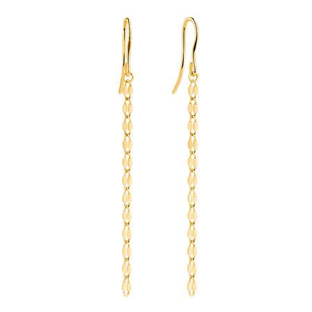 Strand Drop Earrings in 10kt Yellow Gold