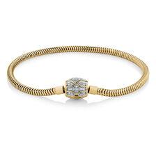 "21cm (8.5"") Charm Bracelet with 1/4 Carat TW of Diamonds in 10kt Yellow Gold"