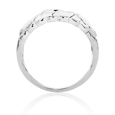 Infinitas Ring with 1/6 Carat TW of White & Enhanced Blue Diamonds in Sterling Silver