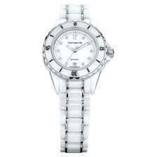 Ladies Watch with Diamonds in White Ceramic & Stainless Steel