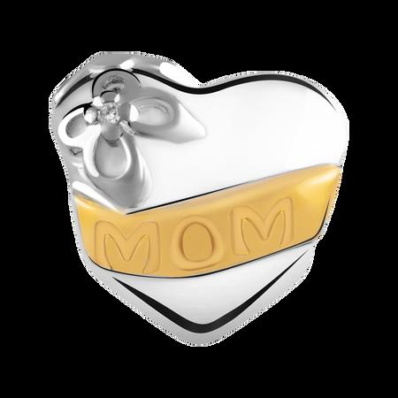 Diamond Set 'Mom' Charm
