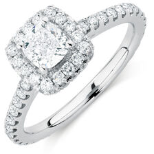 Sir Michael Hill Designer GrandAllegro Engagement Ring with 1 5/8 Carat TW of Diamonds in 14kt White Gold