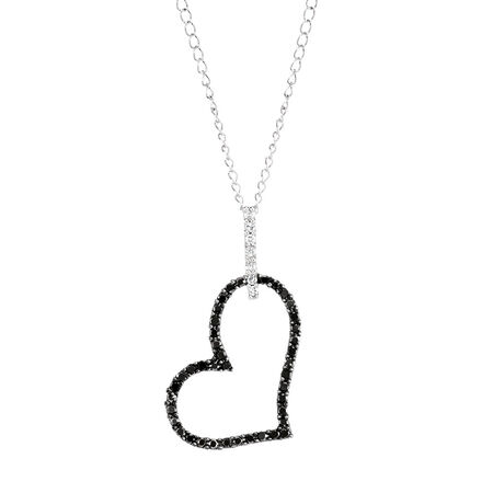 City Lights Pendant with 1/6 Carat TW of White & Enhanced Black Diamonds in Sterling Silver