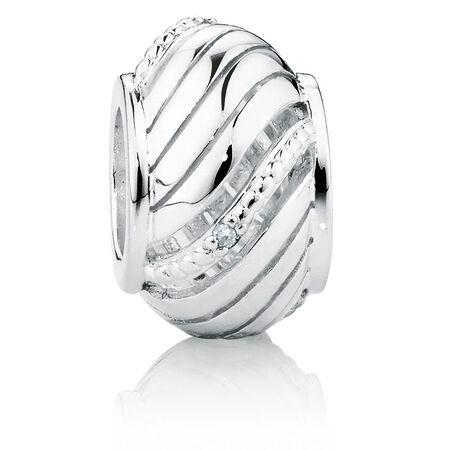 Diamond Set Swirl Charm