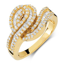 Ring with 7/8 Carat TW of Diamonds in 10kt Yellow Gold