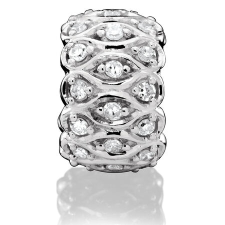 Patterned Charm with 1/4 Carat TW of Diamonds in Sterling Silver