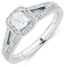 Sir Michael Hill Designer GrandAmoroso Engagement Ring with 1 Carat TW of Diamonds in 14kt White Gold