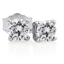 Classic Stud Earrings with 1/2 Carat TW of Diamonds in 14kt White Gold