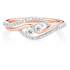 By My Side Ring with 1/3 Carat TW of Diamonds in 10kt Rose Gold