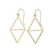 Online Exclusive - Geometric Drop Earrings in 10kt Yellow Gold
