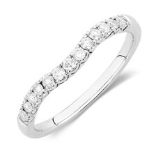 Ideal Cut Wedding Band with 1/4 TW of Diamonds in 14kt White Gold