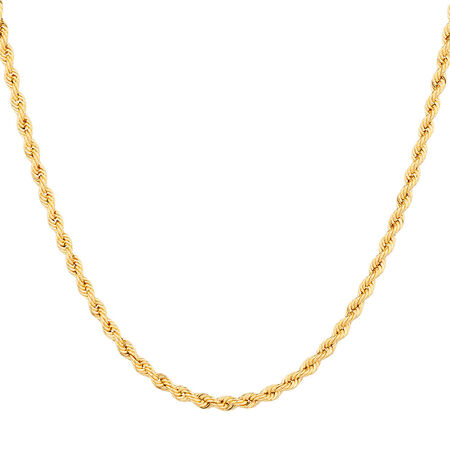 "45cm (18"") Rope Chain in 10kt Yellow Gold"