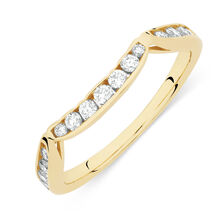 Online Exclusive - Wedding Band with 1/4 Carat TW of Diamonds in 14kt Yellow Gold
