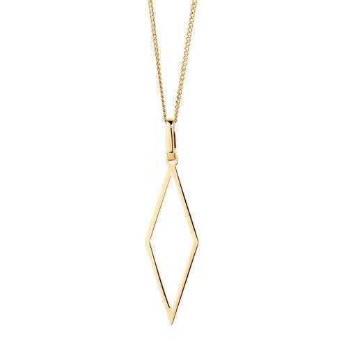 Geometric Pendant in 10kt Yellow Gold