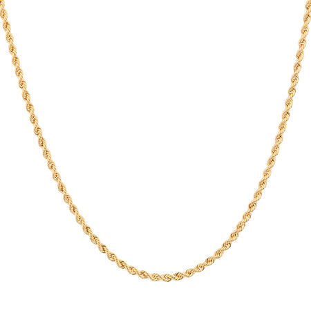 """50cm (20"""") Rope Chain in 10kt Yellow Gold"""