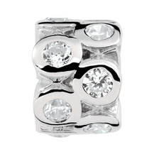 Cubic Zirconia Sterling Silver Charm