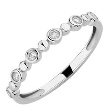 Bubble Ring with 1/8 Carat TW of Diamonds in 10kt White Gold