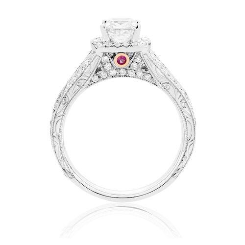 Sir Michael Hill Designer GrandAmoroso Engagement Ring with 1 7/8 Carat TW of Diamonds in 14kt White Gold