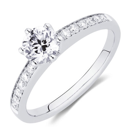 Whitefire Engagement Ring with 5/8 Carat TW of Diamonds in 18kt White & 22kt Yellow Gold