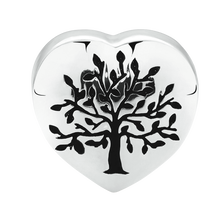 Tree of Life Heart Charm in Sterling Silver