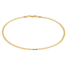 "27cm (11"") Curb Anklet in 10kt Yellow Gold"