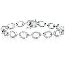 Tennis Bracelet with 3/4 Carat TW of Diamonds in 10kt White Gold
