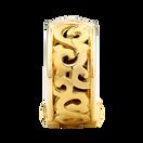 10kt Yellow Gold Filigree Swirl Stopper