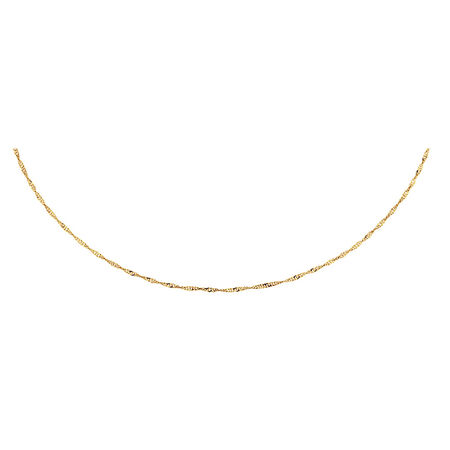 """45cm (18"""") Singapore Chain in 10kt Yellow Gold"""