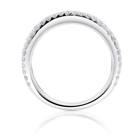 Sir Michael Hill Designer GrandAllegro Wedding Band with 0.33 Carat TW of Diamonds in 14kt White Gold