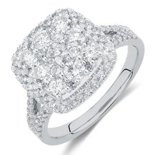 Engagement Ring with 1.5 Carat TW of Diamonds in 10kt White Gold