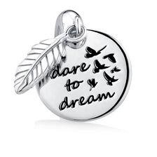 """Dare to Dream"" Mini Pendant in Sterling Silver"