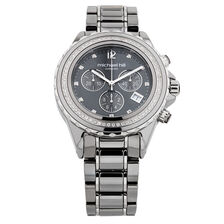 Unisex Chronograph Watch with 1/2 Carat TW of Diamonds in Gray Ceramic & Stainless Steel