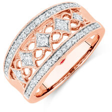 Designer Fashion Ring with 1/2 Carat TW of Diamonds in 10kt Rose Gold