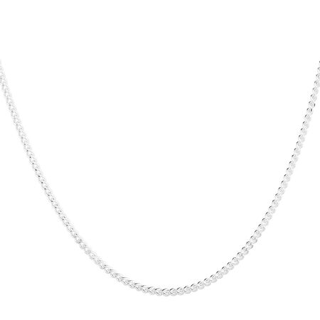 "45cm (18"") Curb Chain in Sterling Silver"