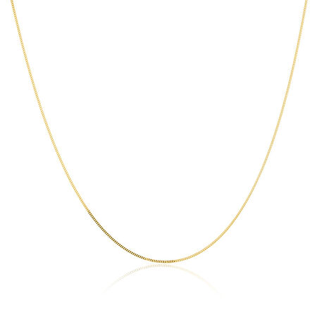 "45cm (18"") Curb Chain in 14kt Yellow Gold"