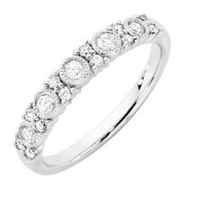 Wedding Band With 1 3 Carat TW Of Diamonds In 10kt White Gold