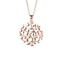 Olive Leaf Circle Pendant in 10kt Rose Gold