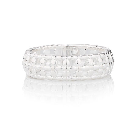 Online Exclusive - Filigree Patterned Stacker Ring in Sterling Silver