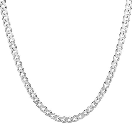 """50cm (20"""") Curb Chain in Sterling Silver"""