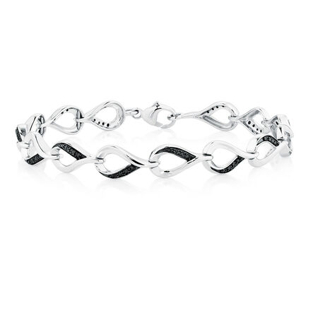 Online Exclusive - City Lights Bracelet with 1/5 Carat TW of Enhanced Black Diamonds in Sterling Silver