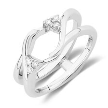 Enhancer Ring with 1/8 Carat TW of Diamonds in 14kt White Gold