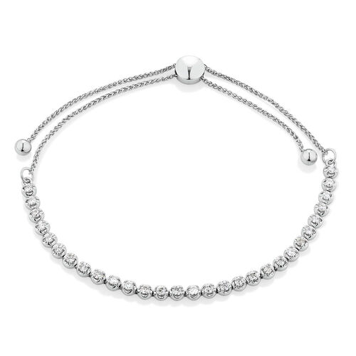 Adjustable Tennis Bracelet with 1 Carat TW Diamonds in 10kt White Gold