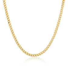 "Men's 55cm (22"") Curb Chain in 10kt Yellow Gold"