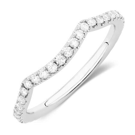 Michael Hill Designer Adagio Wedding Band with 3/8 Carat TW of Diamonds in 14kt White Gold