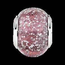 Purple Sparkle Glass Charm