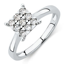 Engagement Ring with 1/3 Carat of Diamonds in 10kt White Gold