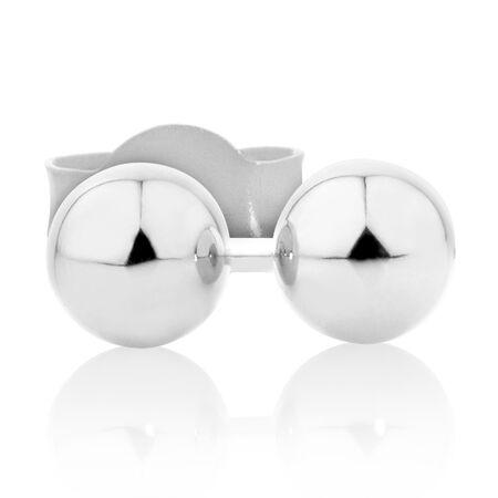 Stud Earrings in 14kt White Gold