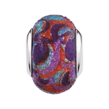 Multi-Colored Enamel Glitter Charm